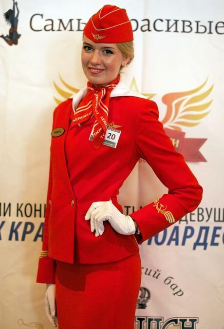 Russian economist gets the most beautiful stewardess title