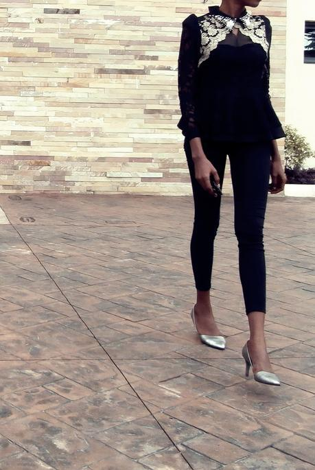 Weekend Style // Embellished Black and Silver Pumps