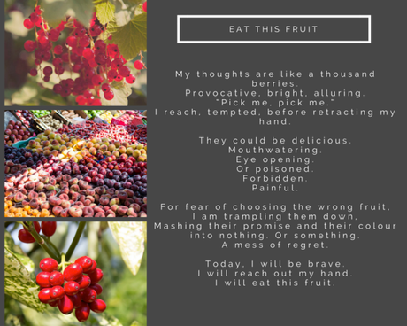Six Cats and a Black Dog: Poetry: Eat this Fruit and Blank Slate