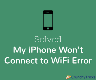 solved fix my iphone won t connect to wifi anymore error paperblog. Black Bedroom Furniture Sets. Home Design Ideas
