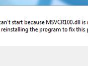 Msvcr100.dll Problem
