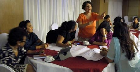 Participants at a Women's Business Network meeting in Nepal in 2014.