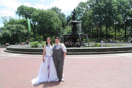 RD wedding central park bethesda fountain