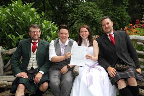 RD wedding central park shakespeare garden