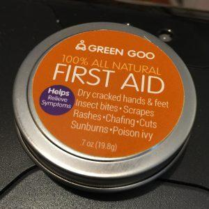 All Natural Deodorant, First Aid Cream, and Lip Balm from Green Goo
