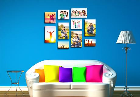 ideas to display canvas gallery prints paperblog