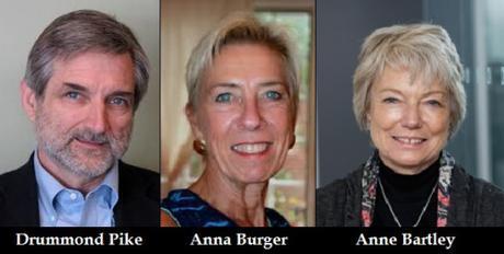 Drummond Pike, Anna Burger, Anne Bartley