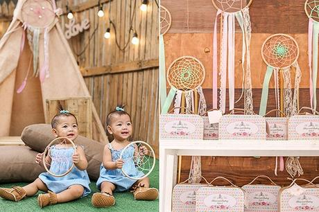 Boho Themed Twin Birthday Party styled by Design Avenue