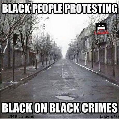 blacks protesting black-on-black crimes