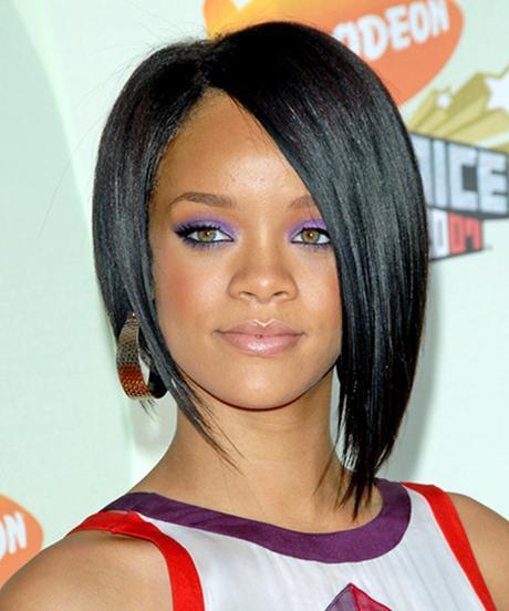 Rihanna Angled Bob Hairstyle