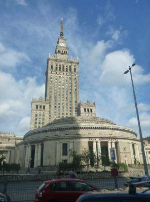 This; a present from Stalin's reign - the Palace of Culture and Science.