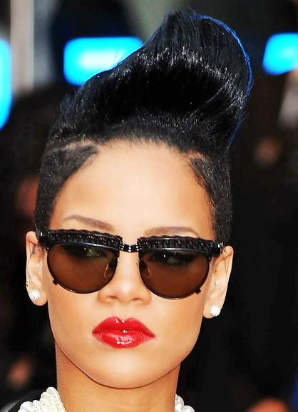 Rihanna Pompadour Mohawk Hairstyle