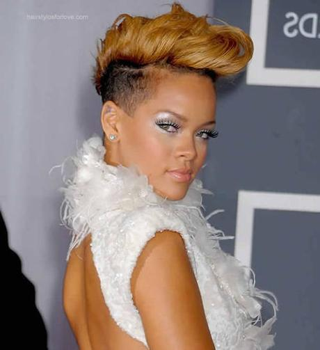 Rihanna Faux hawks Hairstyle