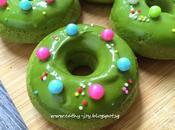 Matcha Azuki Bean Donuts