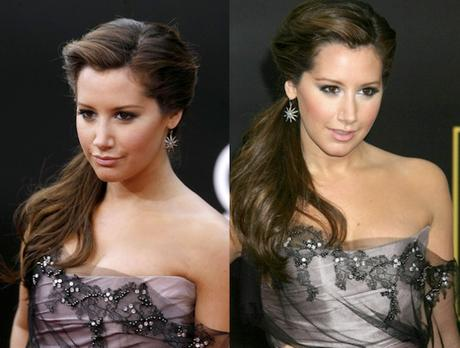 Curly Side Ponytail Ashley Tisdale