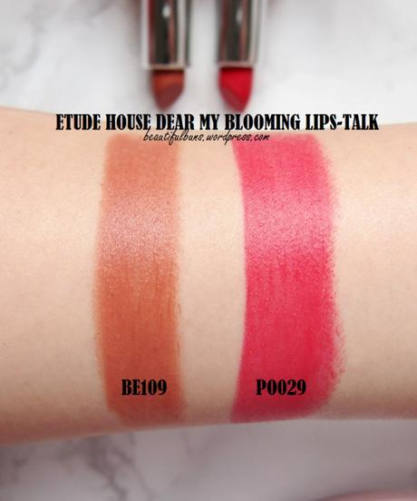 review etude house dear my blooming lips talk chiffon paperblog. Black Bedroom Furniture Sets. Home Design Ideas