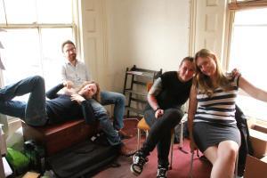 (L-R) Barry Ferns, Dec Munro, Rachel Warnes and Sarah Pearce