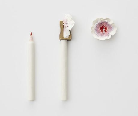 Haruka Misawa pencil shaving flowers
