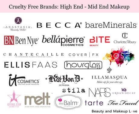 High End Makeup Brands List