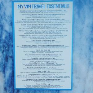 JULY 2016 Marzia Travel Essentials VIM Box Review