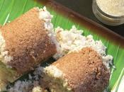 Rice Puttu Steamed Cylindrical Cake South Indian Breakfast