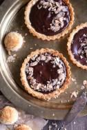 Chocolate Ganache Tarts with Coconut Macaroon Crust (GF + Paleo)