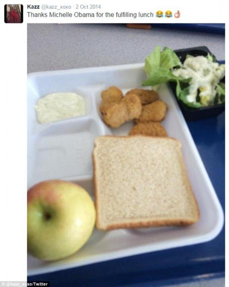 Another lovely school lunch
