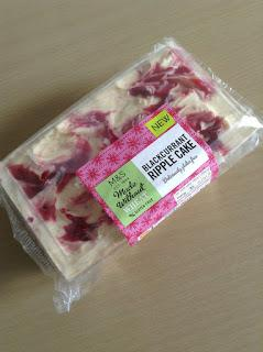 marks and spencer made without wheat blackcurrant ripple cake