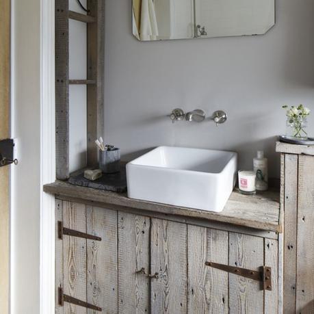 custom rustic bathroom vanity unit