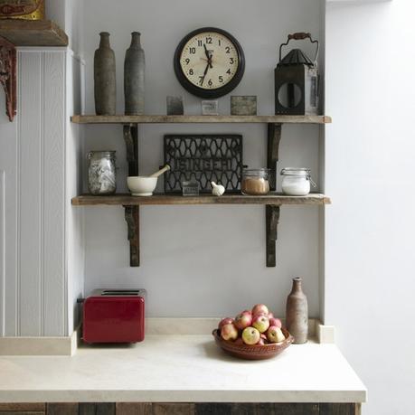 reclaimed kitchen shelves