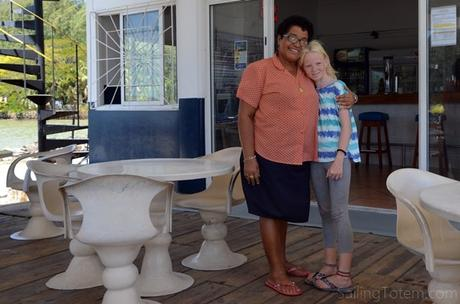 Making an impression at the Seychelles Yacht Club