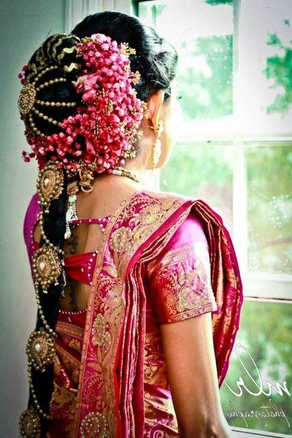 Braided Hairstyle for Indian Wedding