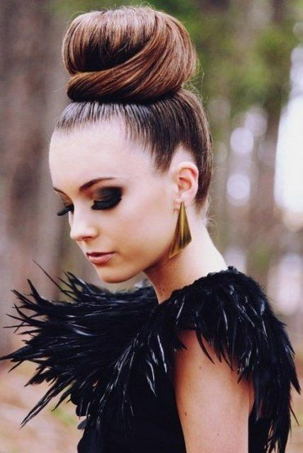 Cool Easy Cute And Messy Bun Hairstyles For Long Hair Paperblog Short Hairstyles Gunalazisus