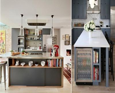 emerging kitchen designs - Under Island Storage