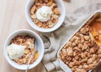 Peach Snickerdoodle Crumble