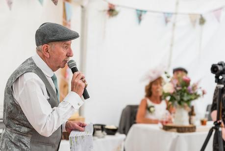 father of the bride speaking at a wedding