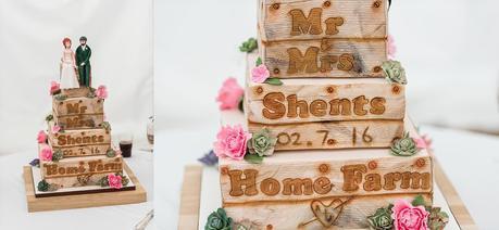 a rustic wedding cake