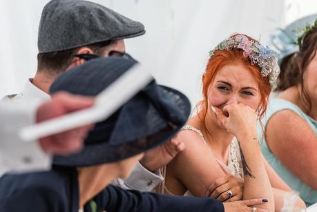 capturing emotion at the wedding speeches