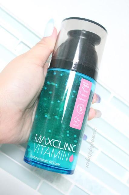 MAXCLINIC VITAMIN Purifying Vitamin Oil Foam + Cloud Embo Masssage Brush Review