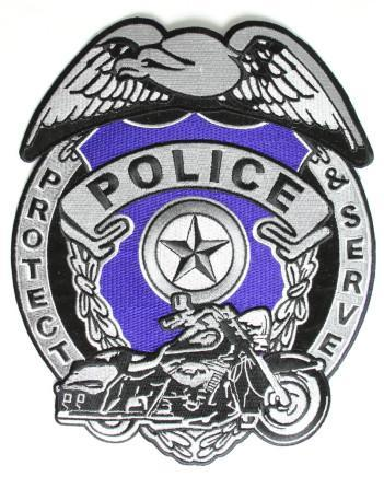 Police protect and serve shield patch