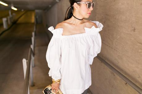 VINTAGE Rx // Off The Shoulder Puff Sleeve Top