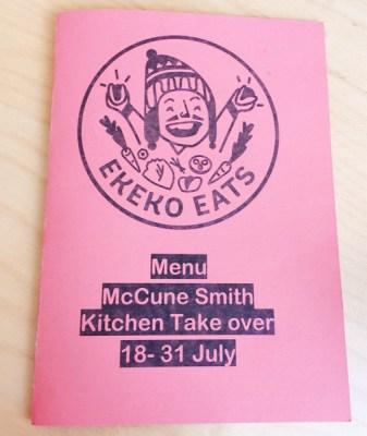 Ekeko eats McCune smith pop up glasgow