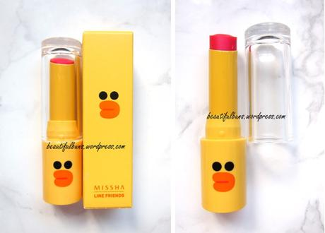 Missha Line Friends Glossy Lip Rouge Wanna Pink (1)