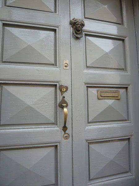 faceted-gray-lacquered-door