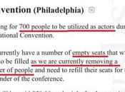 Advertises CraigsList Actors Fill Empty Convention Seats