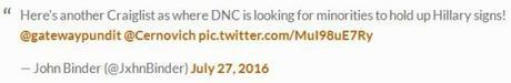 CraigsList ad for racial minorities at DNC