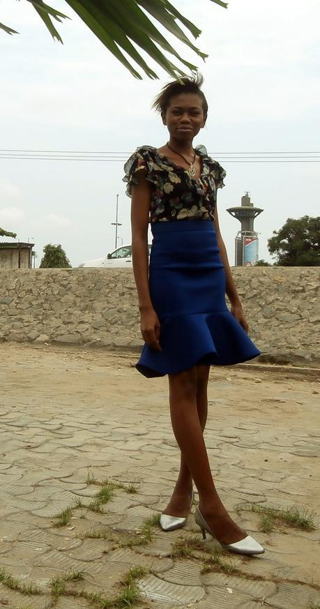 Weekend Style // Silver and Blue Peplum Skirt