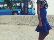 Weekend Style Silver Blue Peplum Skirt