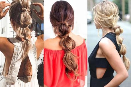 Bubble Ponytail Friday Hairstyle