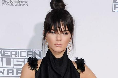 Topknot with bangs friday hairstyle